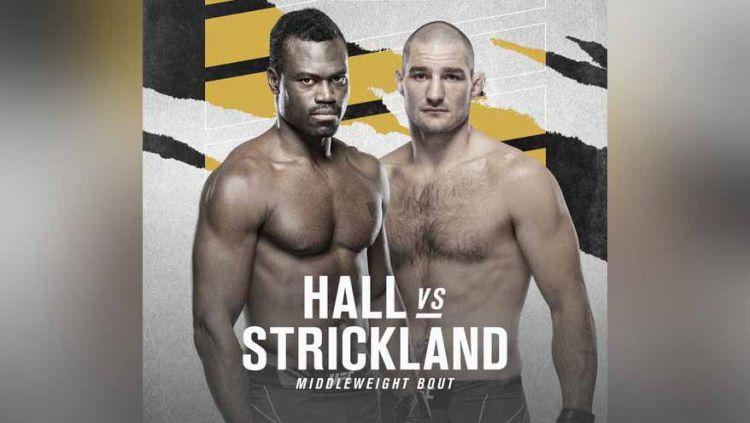 Uriah Hall vs Sean Strickland di UFC Vegas 33. Copyright: © twitter@UFC