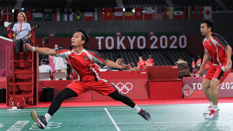 Ganda putra Indonesia di Olimpiade 2020, Mohammad Ahsan/Hendra Setiawan Copyright: © NOC Indonesia