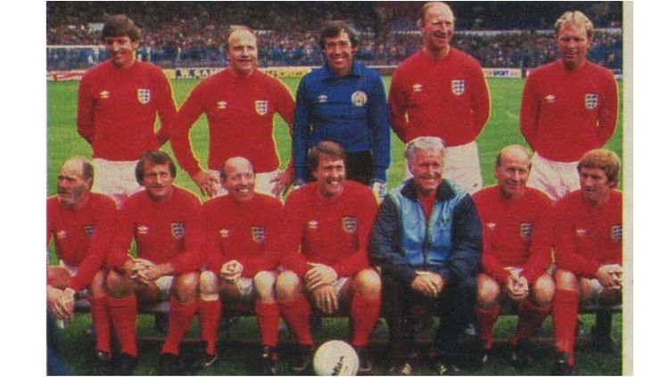 Pertandingan amal antara Inggris versus Jerman Barat, 28 Juli 1985. Copyright: © World Soccer Magazine