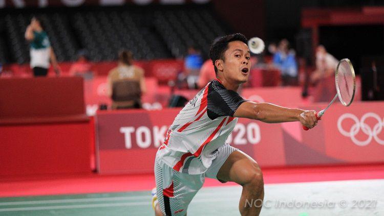 Hasil Badminton Olimpiade: Anthony Ginting Copyright: © NOC Indonesia