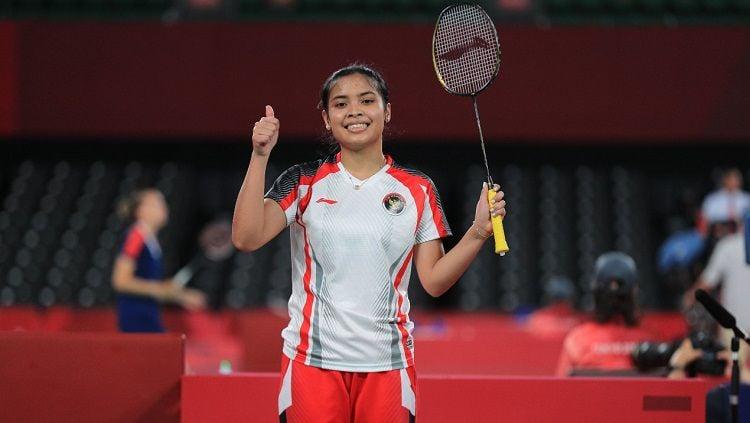 Pebulutangkis Gregoria Mariska di Olimpiade 2020. Copyright: © NOC Indonesia