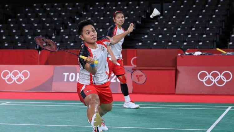 Momen Greysia Polii/Apriyani Rahayu catat sejarah jadi ganda putri Indonesia pertama yg ke semifinal Olimpiade. Copyright: © NOC Indonesia
