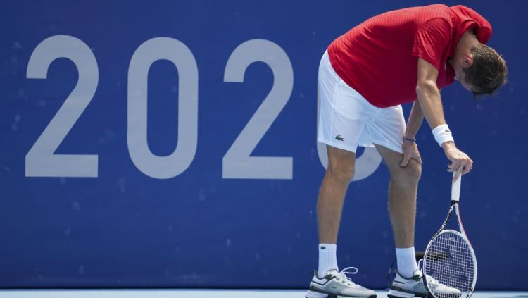 Indosport - Daniil Medvedev di Olimpiade Tokyo 2020.