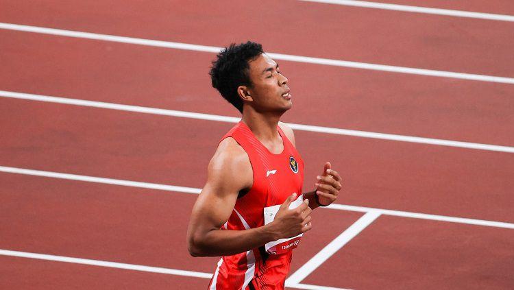 Sprinter Indonesia, Lalu Muhammad Zohri. Copyright: © NOC Indonesia