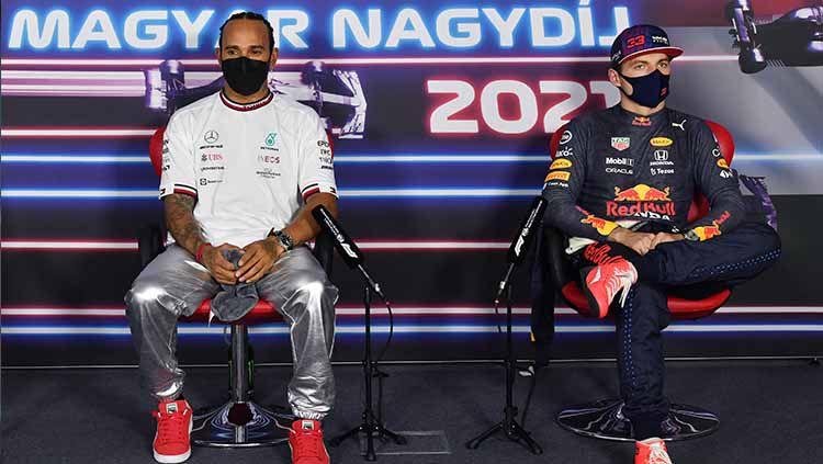Lewis Hamilton dan Max Verstappen terlibat rivalitas panas di Formula 1 tahun ini. Berikut 5 rivalitas terpanas yang sebelumnya pernah hadir di dunia F1. Copyright: © Mark Sutton - Pool/Getty Images