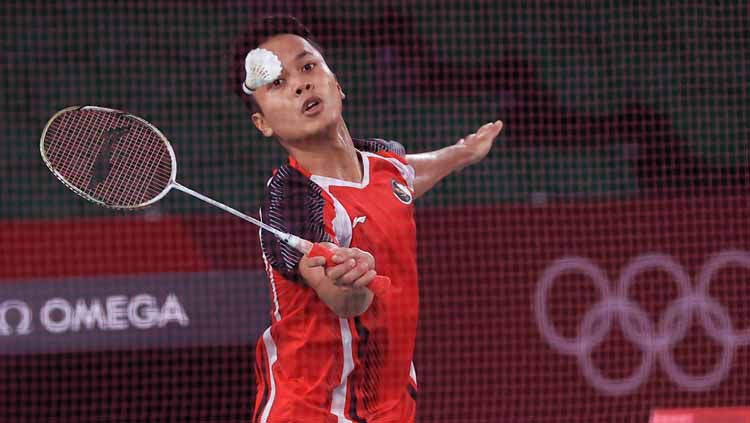 Hasil Piala Thomas: Blok Kece Anthony Ginting Bawa Indonesia Unggul 1-0 Copyright: © NOC Indonesia
