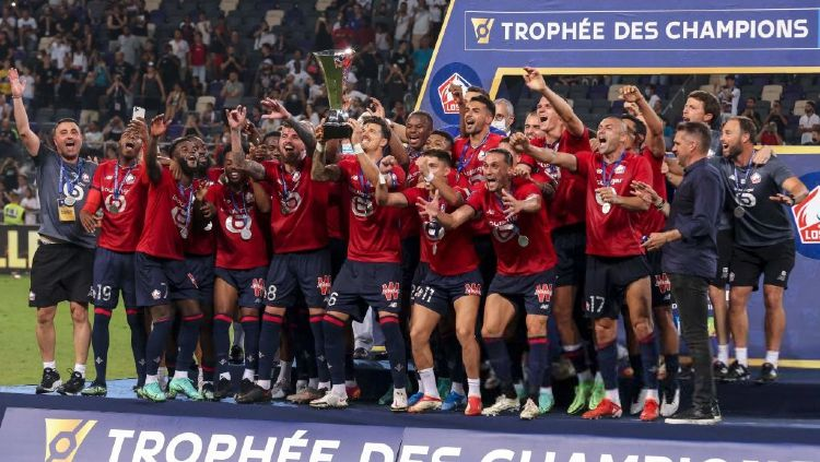 Lille Juara Piala Super Prancis 2021 Copyright: © EMMANUEL DUNAND/AFP via Getty Images