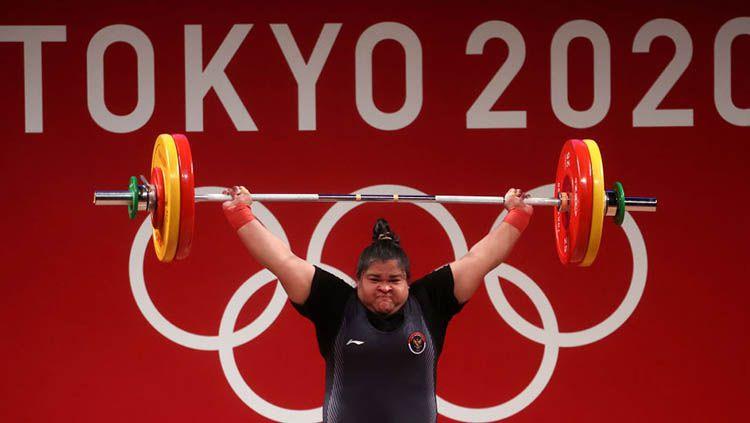Atlet angkat besi kebanggaan Indonesia, Nurul Akmal. Copyright: © Chris Graythen/Getty Images
