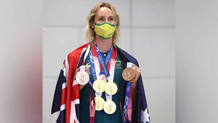 Emma McKeon, perenang asal Australia. Copyright: © Instagram@olympics