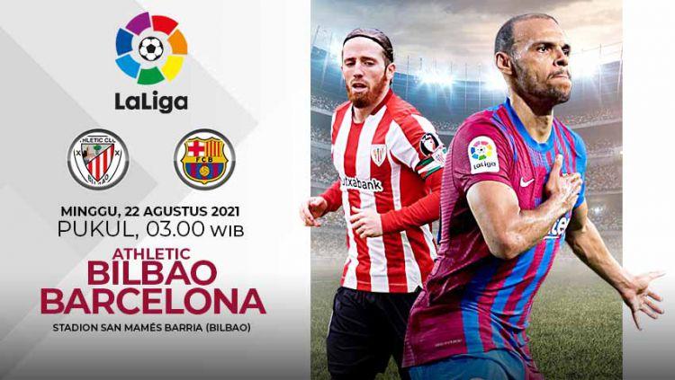 Pertandingan antara Athletic Bilbao vs Barcelona (LaLiga). Copyright: © Grafis:Yanto/Indosport.com