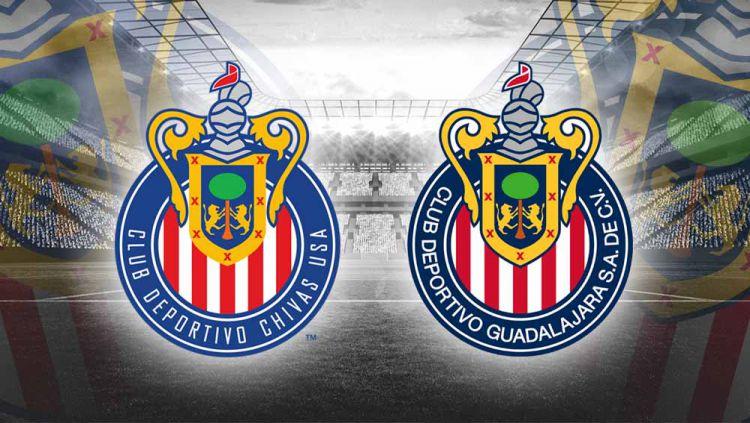Logo CD Chivas USA dan Logo CD Guadalajara Copyright: © Grafis:Yanto/Indosport.com
