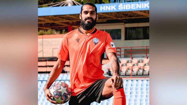 Sandesh Jhingan, pemain HNK Sibenik. Copyright: © Instagram@sandesh21jhingan