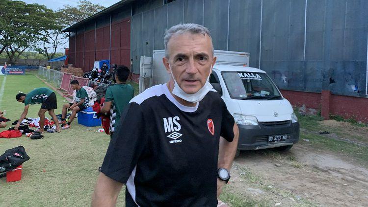 Pelatih PSM Makassar, Milomir Seslija. Copyright: © Adriyan Adirizky/INDOSPORT