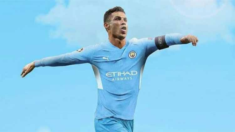 Ilustrasi Cristiano Ronaldo (Manchester City) Copyright: © Instagram@cristiano7ime