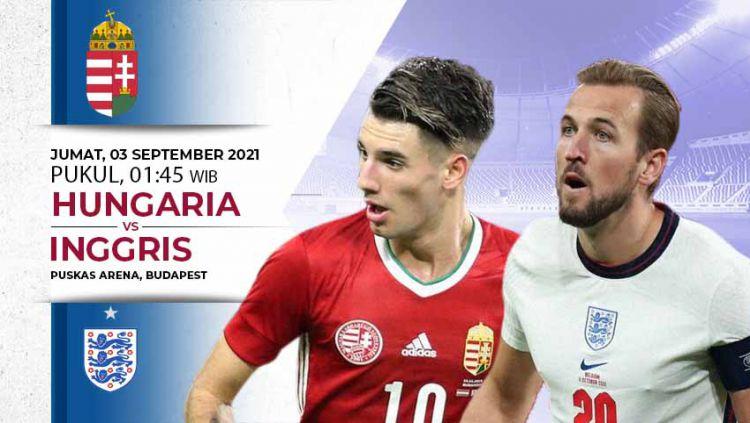 Prediksi pertandingan Kualifikasi Piala Dunia 2022 antara Hungaria vs Inggris. Copyright: © INDOSPORT