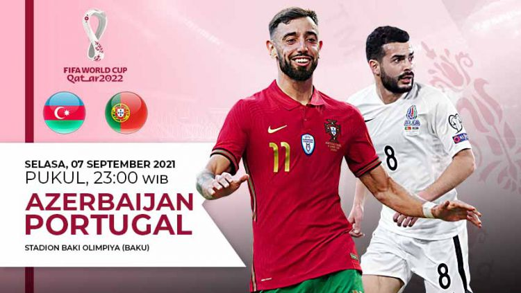 Prediksi pertandingan Kualifikasi Piala Dunia 2022 Azerbaijan vs Portugal. Copyright: © Grafis:Yanto/Indosport.com