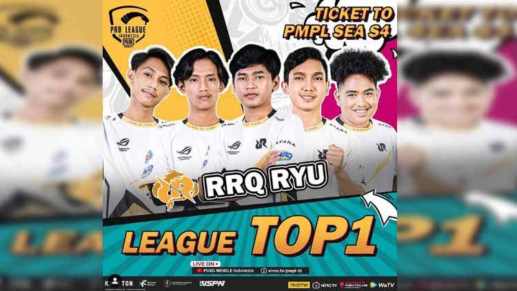Selama mengarungi kompetisi eSprots PUBG Mobile Pro League (PMPL) Indonesia Season 4, RRQ Ryu yang diperkuat Nerpehko, Valdemort, Mort, dan Asaa tampil dominan. Copyright: © pubgmobile.esports.id