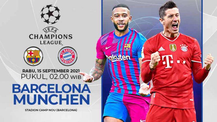 Pertandingan antara Barcelona vs Bayern Munchen (Liga Champions). Copyright: © Grafis:Yanto/Indosport.com
