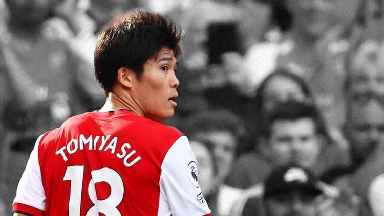 Tampil apik di laga debut dengan menang dan raih cleansheet, layakkah Takehiro Tomiyasu dianggap rekrutan terbaik Arsenal di bursa transfer musim panas lalu? Copyright: © Ryan Pierse/Getty Images