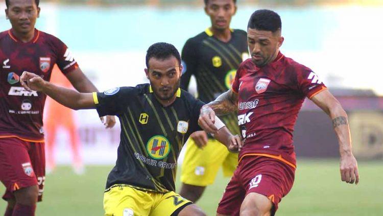 Pertandingan antara Borneo FC vs Barito Putera di BRI Liga 1. Copyright: © Instagram@borneofc.id