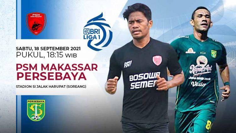 Pertandingan antara PSM Makassar vs Persebaya (Liga 1 BRI). Copyright: © Grafis: Yuhariyanto/Indosport.com
