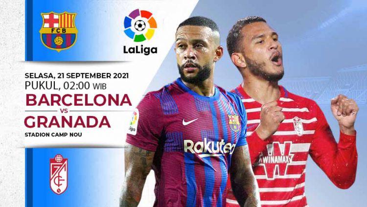 Berikut jadwal pertandingan Liga Spanyol, Selasa (21/09/21) dini hari WIB di mana Barcelona akan menjamu Granada demi kembali ke papan atas. Copyright: © INDOSPORT