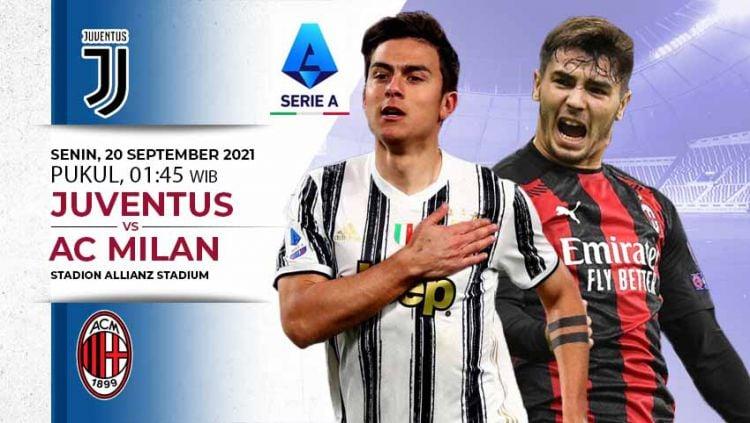 AC Milan akan bertandang ke markas Juventus di pekan ke-4 Liga Italia, Senin (20/09/21) dini hari WIB. Copyright: © INDOSPORT