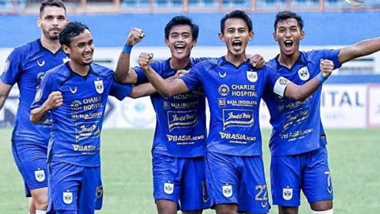 Aksi selebrasi pemain PSIS Semarang menang atas Persiraja dengan skor 3-1. Copyright: © psisfcofficial