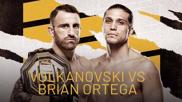 Alexander Volkanovski vs Brian Ortega di UFC 266 Copyright: © MMA