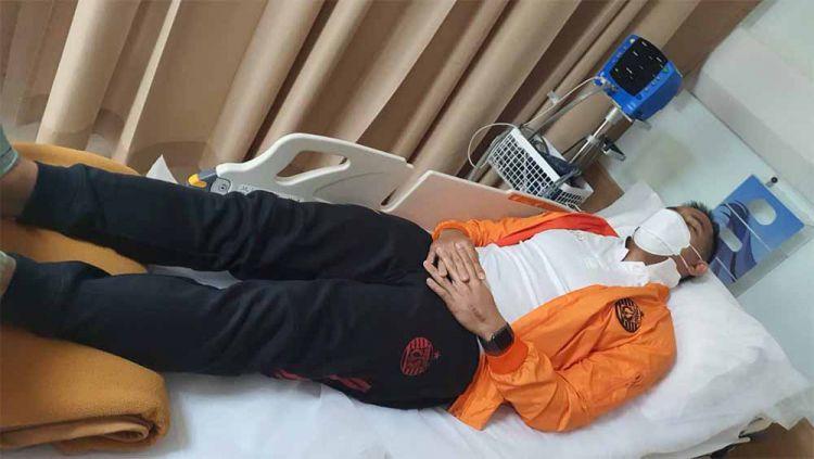 Kapten Persija Jakarta, Andritany Ardhiyasa dilaporkan sakit demam berdarah sehingga absen saat lawan Persipura Jayapura, Minggu (19/09/21). Copyright: © Persija
