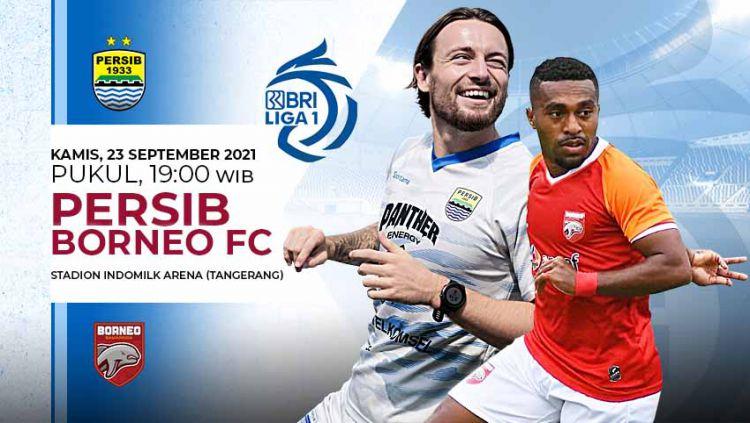 Berikut link live streaming pertandingan BRI Liga 1 2021-2022 pekan ke-4 antara Persib Bandung vs Borneo FC. Copyright: © Grafis: Yuhariyanto/Indosport.com