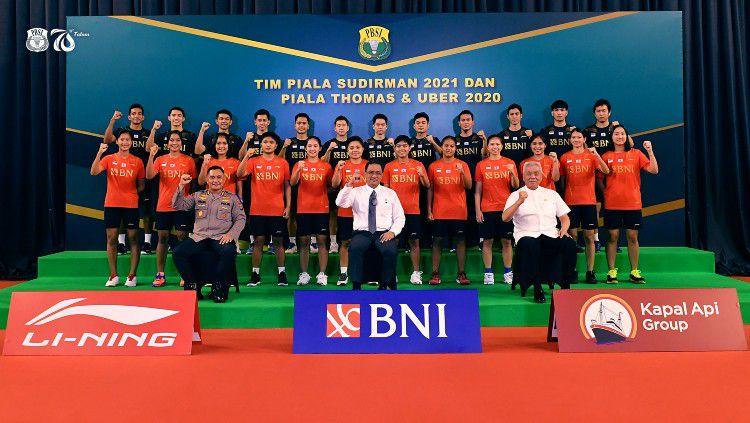 Tim Indonesia di Piala Sudirman 2021. Copyright: © Twitter/Badminton Indonesia