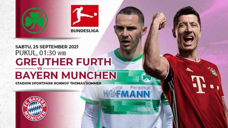 Berikut prediksi pertandingam Bundesliga Jerman yang mempertemukan Greuther Furth kontra Bayern Munchen pada Sabtu (25/09/21). Copyright: © INDOSPORT