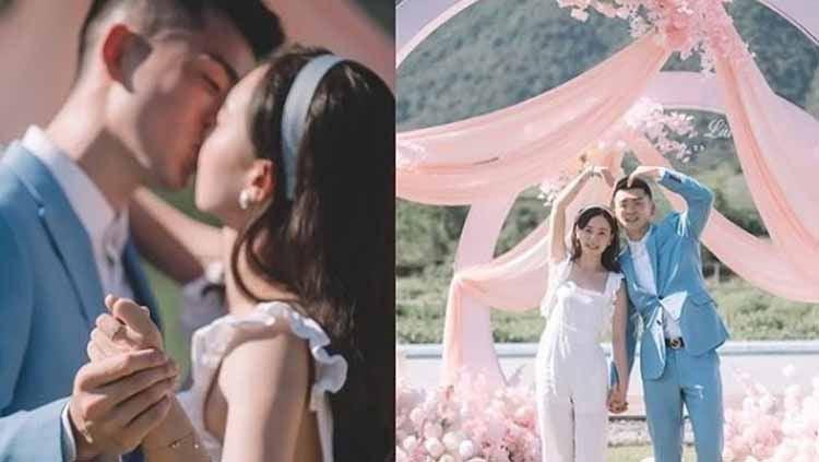 Pebulutangkis ganda campuran asal China, Zheng Siwei resmi mendaftarkan pernikahannya bersama kekasih di Kantor Urusan Agama (KUA) setempat. Copyright: © zhengsiwei.official