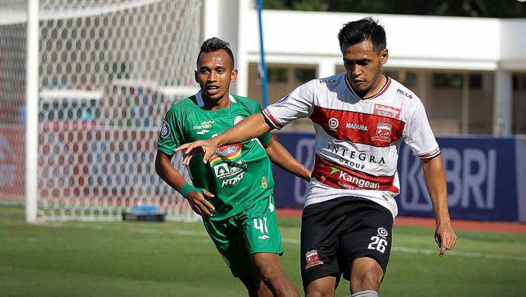 Hasil Pertandingan Liga 1 Madura United vs PSS Sleman: Gol Ajaib Menangkan Sape Kerrab Copyright: © Twitter@Liga1Match