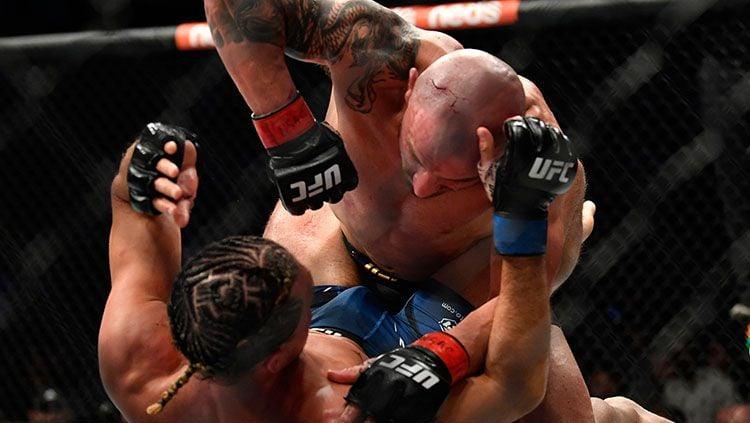 Alexander Volkanovski vs Brian Ortega di UFC 266. Copyright: © UFC.com