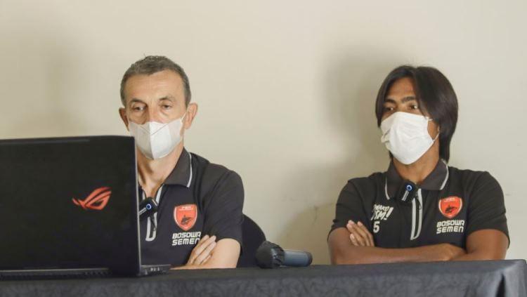 Pelatih kepala klub PSM Makassar, Milomir Seslija, tidak ingin merotasi skuatnya hingga memasuki pekan kelima BRI Liga 1 2021/2022 menghadapi Barito Putera. Copyright: © Official PSM Makassar