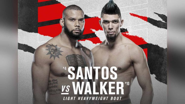 Thiago Santos vs Johnny Walker di UFC Vegas 38 Copyright: © mmamania
