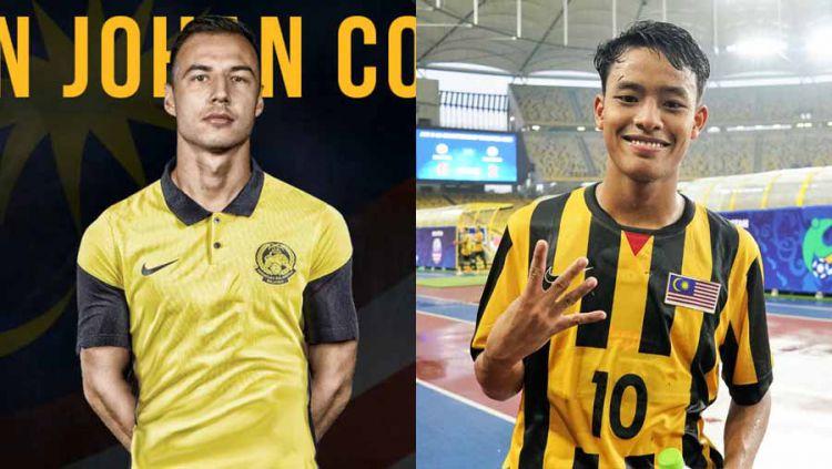 Pemain Timnas Malaysia, Dion Cools dan Luqman Hakim Copyright: © vocketfc/juiceonline