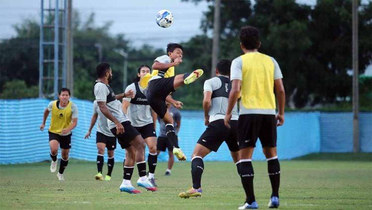 Latihan Timnas Indonesia Kualifikasi Piala Asia 2022. Copyright: © Bandung Saputra/PSSI