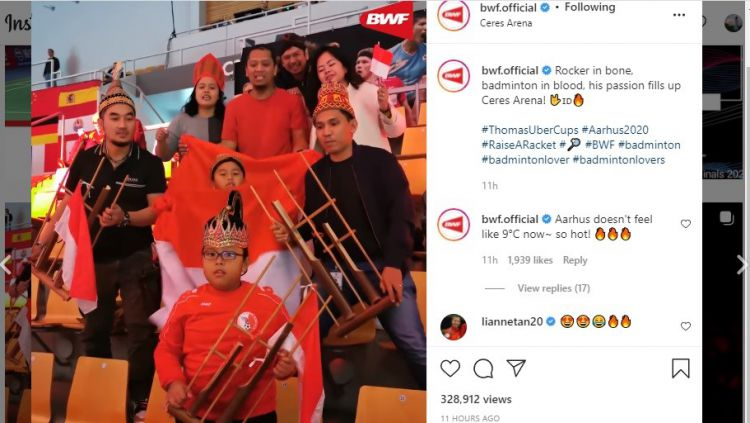 Bocah Laki-laki Fans Indonesia Viral di Piala Thomas Uber Copyright: © Instagram BWF