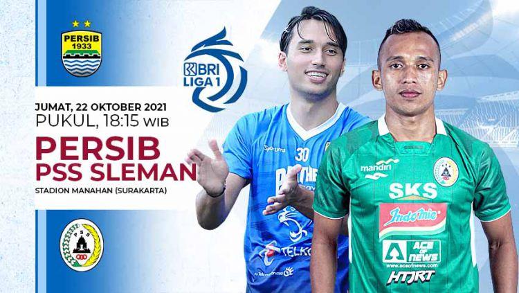 Indosport - Prediksi pertandingan pekan kedelapan BRI Liga 1 2021-2022, antara Persib Bandung mengahadapi PSS Sleman di Stadion Manahan, Solo, Jumat (22/10/21).