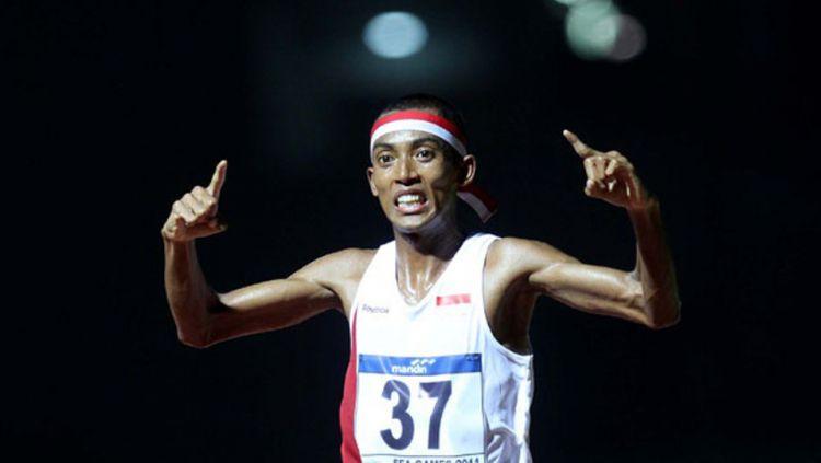 Agus Prayogo berhasil memecahkan rekor nasional ketika mengikuti ajang lari maraton di Gold Coast Marathon 2019. Copyright: ©