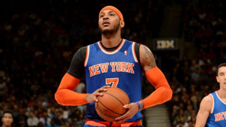 Mantan pemain Denver Nuggets dan New York Knicks, Carmelo Anthony, dilaporkan gabung Portland Trail Blazers. Copyright: © GETTY IMAGES
