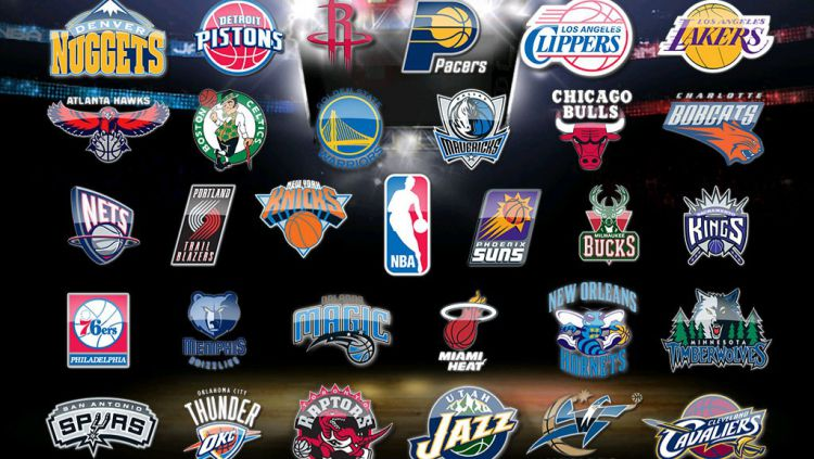 Logo-logo tim NBA. Copyright: © INTERNET
