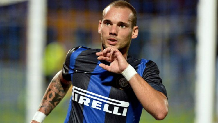 Wesley Sneijder saat berseragam Inter Milan. Copyright: © GETTY IMAGES